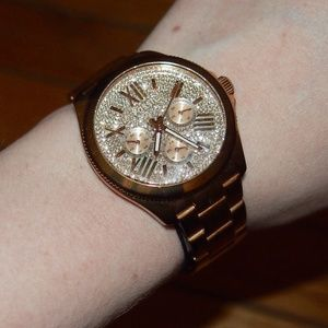 Fossil Accessories - Fossil Rose Gold Rhinestone Watch